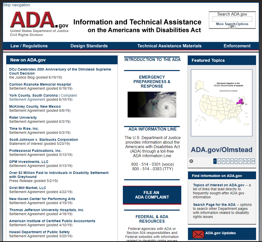 ADA Government Resources
