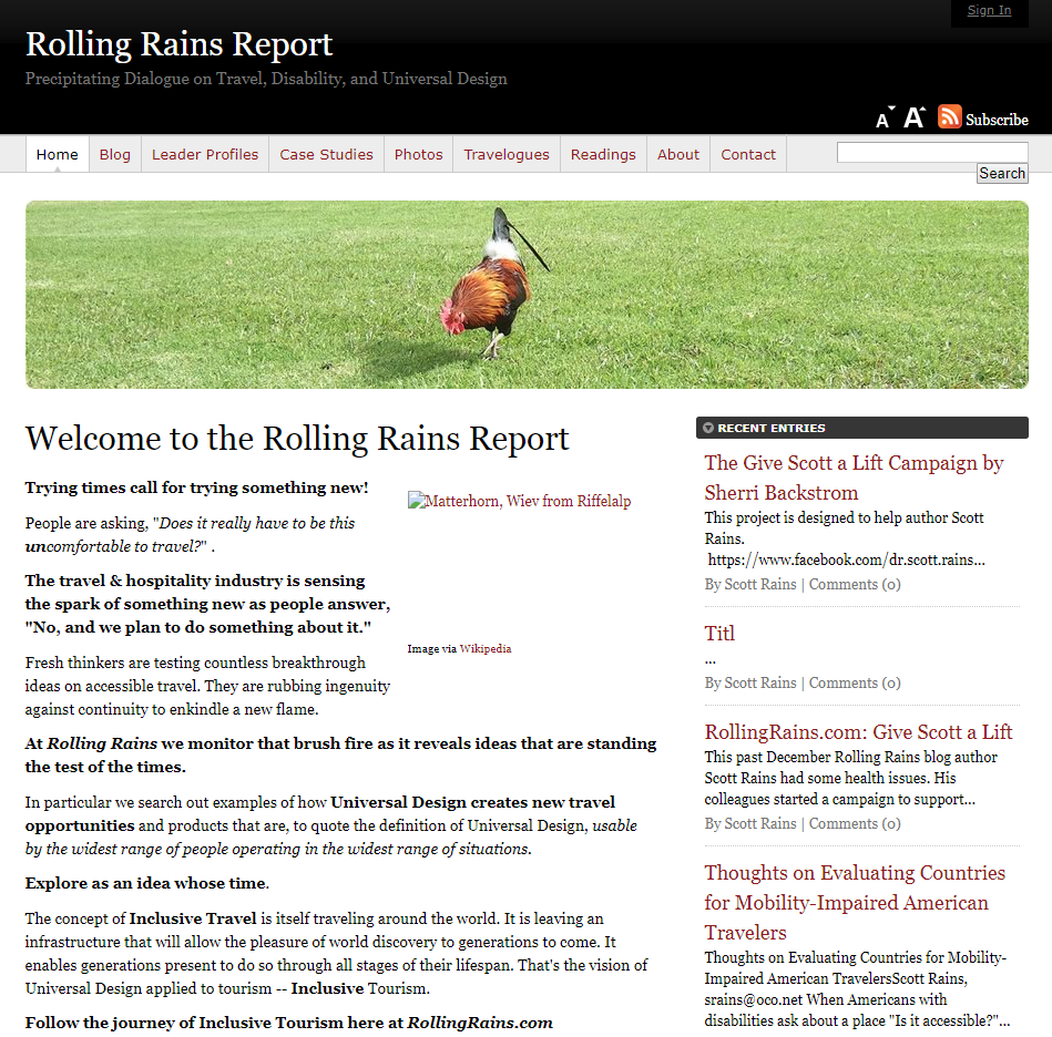 The Rolling Rains Report